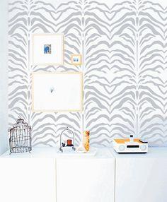 Zebra DIY wall stencil home decor