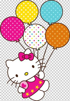 Hello Kitty Birthday cake Happy Birthday to You , hello kitty, Hello Kitty and balloons illustration PNG clipart Hello Kitty Theme Party, Hello Kitty Birthday Cake, Hello Kitty Themes, Hello Kitty Cake, Happy Birthday, Hello Kitty Backgrounds, Hello Kitty Wallpaper, Bolo Snoopy, Hello Kitty Clipart