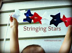 Toddler Approved!: Stringing Stars.A simp and quick activity for Flag Day or the 4th of July. Do you do anything to celebrate Flag Day?