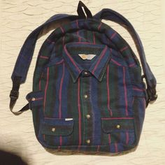 New Carhartt bag, handmade from a real shirt...Best op shops everrrrr