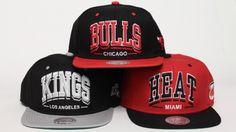 Mitchell and Ness snapback Miami Heat - Chicago Bulls - Sacramento Kins