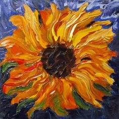 Impasto Sunflowers, Oil Paintings