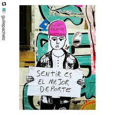 Guille Pachelo, miembro de BA Paste Up, un movimiento artístico que interviene en la vía pública mediante la técnica de pegatinas creando collages y murales colectivos. Street Quotes, Up Quotes, Powerful Words, All Art, Happy Life, Favorite Quotes, Graffiti, Inspirational Quotes, Letters