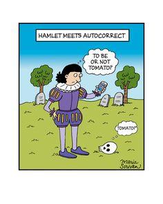 Hamlet Meets Autocorrect Print