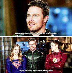 Stephen & Melissa - EW Cover: CW superheroes crossover! #Arrow #Supergirl #TheFlash #LegendsofTomorrow