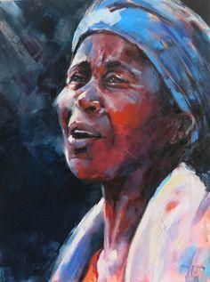 Praise Singer : 80 x 60 cm: oil on canvas : Sold : www.jjidigby.com