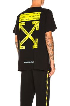 59ee11c3926b Shop for OFF-WHITE Firetape Tee in Black at REVOLVE.