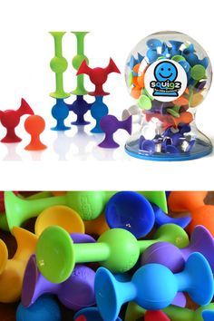Squigz Deluxe Set (50 pieces): Fun Little Suckers! A Large Set Of Suction Construction Pieces.