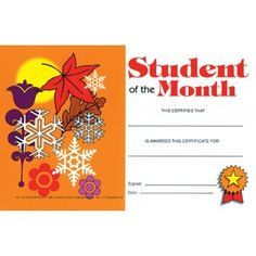 student of the month 30 pack downloadable templates available to