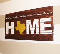 ANY STATE State of Texas Home Our Roots by HartandHomeDesigns
