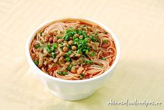 Chinese Dandan Noodles Recipe(担担面) Dandan Noodles/Dan Dan Mian ...