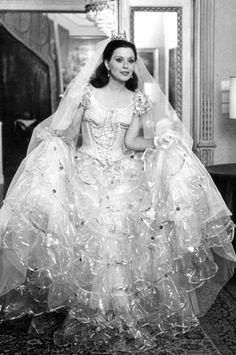 Old time glamorous wedding dress