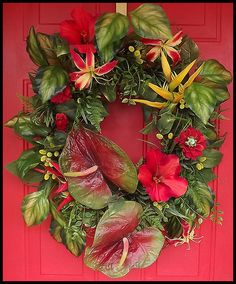 Tropical Wreaths | Tropical Summer Wreath