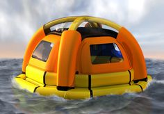 life raft makes sea water drinkable - brilliant    Honey, if you are living a life so exciting that you'd actuaally buy this, I surely would like to read your journal!