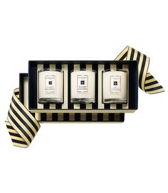 These travel candles by Jo Malone smell scrumptious and look lovely.  'Sweet Almond and Macaroon.'