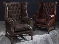 Leather Wing Chairs look great accompanying your new Chesterfield Sofa. Order your hand built Leather Wing Chair today! Leather Wingback Chair, Leather Furniture, Home Furniture, Furniture Design, Wingback Chairs, Armchairs, Leather Chairs, Leather Sofa, Vintage Sofa