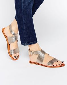 Image 1 ofASOS FRAME Leather Sandals