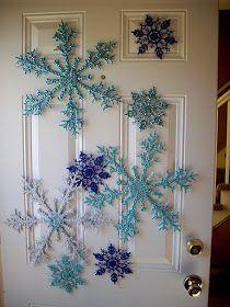 Glitter Acrylic Snowflakes