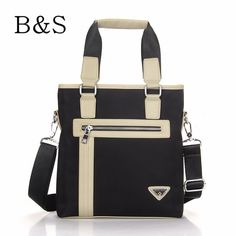 2016 New Fashion Brand Nylon and leather Men Messenger Bag Waterproof Men's Handbag Cross-body Bag Male Briefcase bolsos Kabelky