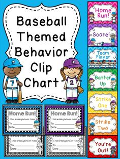 Adorable baseball themed behavior clip chart!! Comes with really great awards to send home to parents for reaching the top!