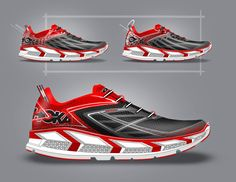 Pictures, product description and design ideation of the HOKA One One  Clifton 3 road running shoe. Designed by GHOST WORKS.