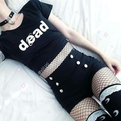 Summer Fashion Sexy Women Slim High Waist Shorts Hot Shorts Casual Solid Skinny Side Zipper Button T Gothic Outfits, Edgy Outfits, Mode Outfits, Grunge Outfits, Fashion Outfits, Pastel Goth Outfits, Fashion Tights, Fashion Clothes, Pastel Goth Clothes