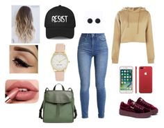 """""""."""" by andreaaguilar303 ❤ liked on Polyvore featuring Boohoo, Puma, Skagen and Nine West"""