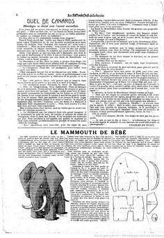 Les Dimanches de la femme : 1923/05/13 le Mammouth de Bebe