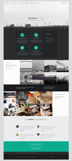 Q'tron WordPress Theme by WebMan Design on Creative Market