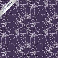 Patrón de tela púrpura de araña