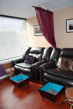 Pedicure thrones. Spa decor at Spoiled Spa and Salon in Vancouver, Washington.  #spoiled #spoiledspaandsalon #decor