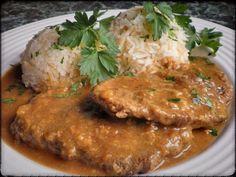 HOVĚZÍ PLEC NA HOŘČICI S JASMÍNOVOU RÝŽÍ Ham, Pork, Treats, Snacks, Food And Drink, Chicken, Baking, Drinks, Fine Dining