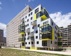 60 viviendas sociales y biblioteca de distrito – OP13 / PHD Architectes