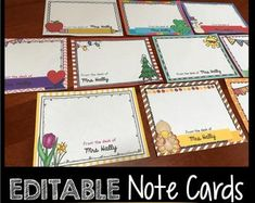 Happy Back to School Season! I love this time of year and wanted to give all my fellow teacher friends a FREEBIE!You can edit these adorable cards to say your name, or type another teacher's … Teachers Day Card, Teacher Cards, Teacher Notes, Teacher Gifts, Teacher Stickers, Teachers Corner, Diy Gifts Etsy, Fancy Pens, Back To School Gifts