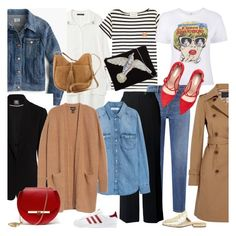 """""""SPRING CAPSULE WARDROBE"""" by tiziana-melera ❤ liked on Polyvore featuring MANGO, J.Crew, Vince Camuto, Maison Labiche, Uniqlo, Chesca, Halogen, From St Xavier, Ash and Angela Valentine Handbags"""