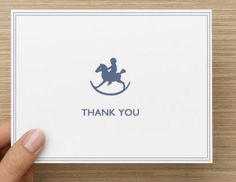 Baby thank you card: Baby boy baby shower by RadiantExposures