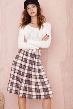 Plaid to the Bone Skirt | Shop Skirts at Nasty Gal