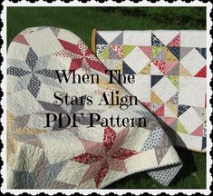 PDF pattern -- When The Stars Align...TWO design variations in ONE pattern-- multiple size options. $9.00, via Etsy.