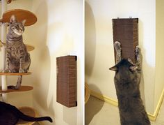 Modern Minimal Wall-hanging Cardboard Cat Scratcher from Hauspanther