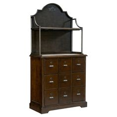 Scarlett Bar and Hutch with 2 doors and apothecary-inspired fronts. Features a wine rack, stemware holder, and stone inset top. Bar Hutch, Wine Hutch, Hutch Cabinet, Cabinet Ideas, Craftsman Front Doors, Game Room Bar, River House, High Quality Furniture, Paula Deen