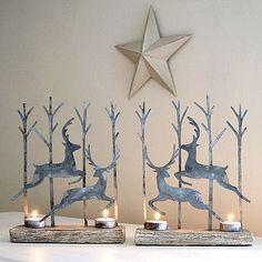 Leaping Reindeer Tealight Pair