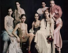 Love the idea of a group shot for a fashion collection. Paolo Roversi for Vogue UK