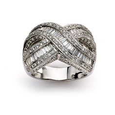 <li>White diamond eternity ring</li> <li>18k white gold jewelry</li> <li><a href='http://www.overstock.com/downloads/pdf/2010_RingSizing.pdf'><span class='links'>Click here for ring sizing guide</span></a></li>