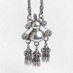 Colier statement Nam-Tuam, argint, Thailanda #metaphora #silverjewelry #silverjewellery #necklace #thailand #statement
