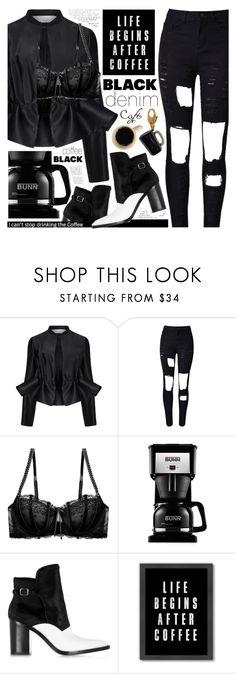 """Denim Trend: Black Jeans"" by pastelneon ❤ liked on Polyvore featuring Victoria, Victoria Beckham, Heidi Klum, Bunn, Alexander Wang, Americanflat, Kate Spade, WALL and modern"