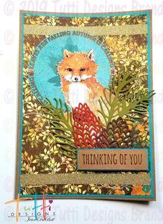 Tutti Designs: Cute Fall Fox Card by Jenn DuBell