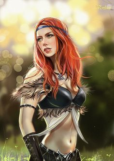 Celtic girl by *Venlian Digital Art / Paintings & Airbrushing / People / Fantasy ©2012 *Venlian