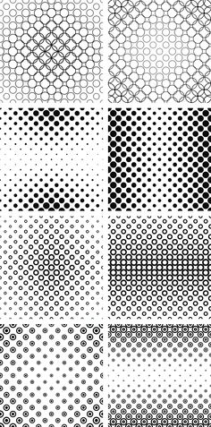 Monochrome circle pattern collection