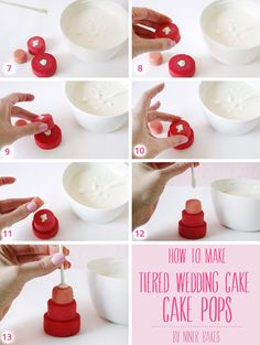 {Tutorial} How to make Tiered Wedding Cake – Cake Pops by niner bakes (incl. step by step photos!)