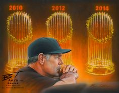 <strong>3 CHAMPIONSHIPS IN 5 YEARS</strong> What a great ride the San Francisco Giants and manager Bruce Bochy have been on. World Series Champs in 2010, 2012 and 2014--a Dynasty for the SF Giants. <h3>Prints Available</h3> The original painting is still available. Various Limited Edition print sizes and types also remain available.